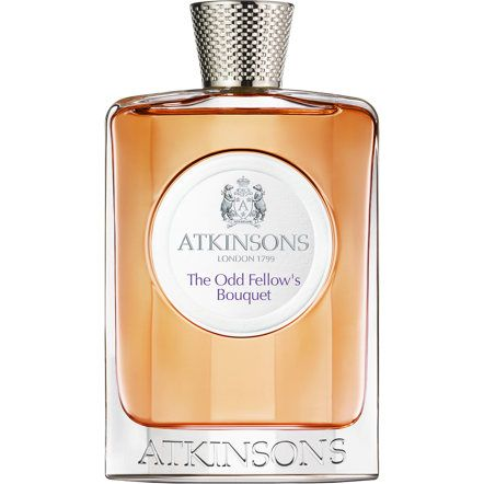 Atkinsons Odd Fellow Bouquet: almondy heliotrope flowers and dark tobacco, heightened with ginger and fiery peppercord, deepened with a rich ambery accord of benzoin and labdanum. A fragrance of immense leisure.