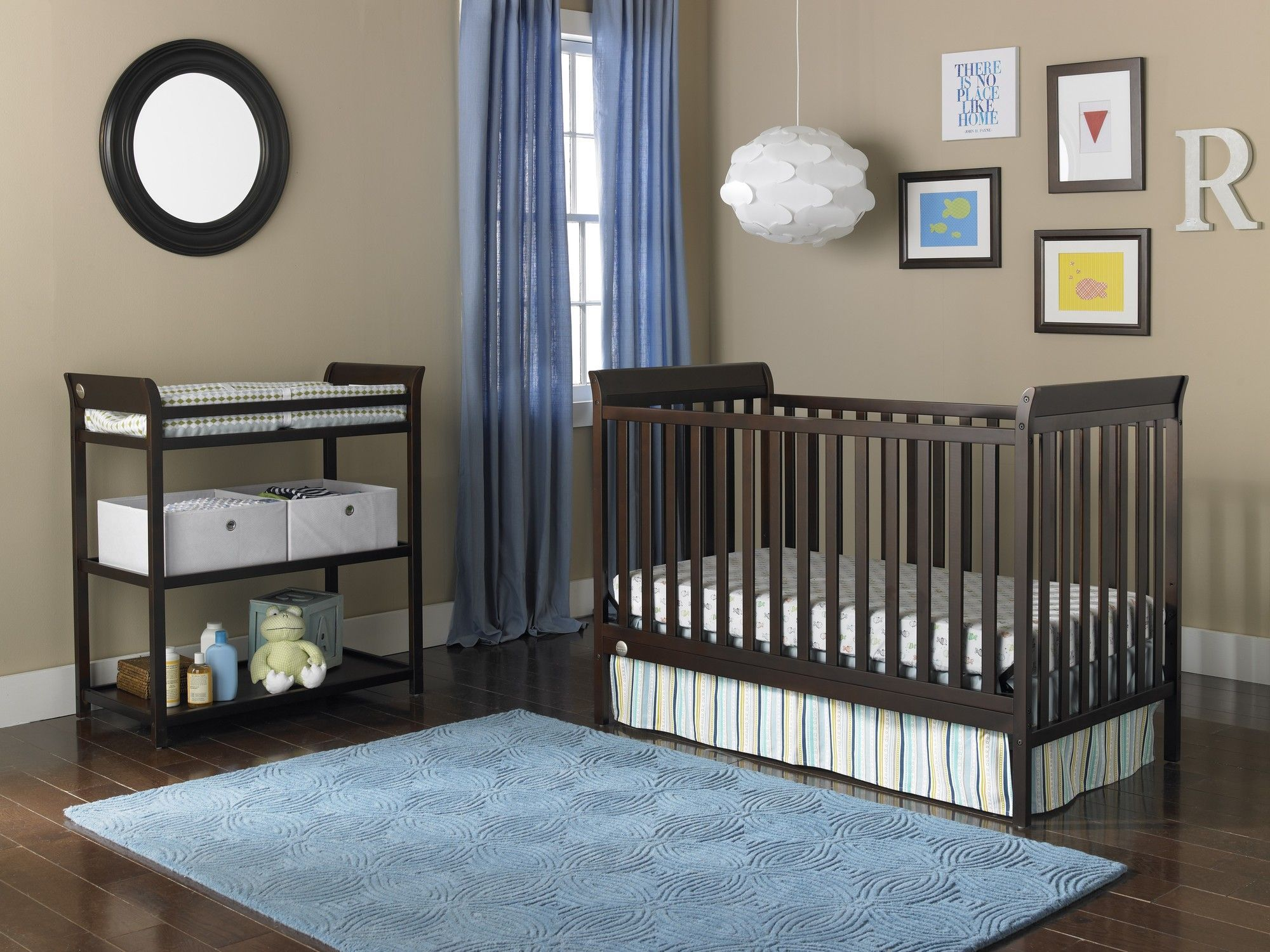 6 Piece 3-in-1 Convertible Crib Set with Mattress | Products | Pinterest