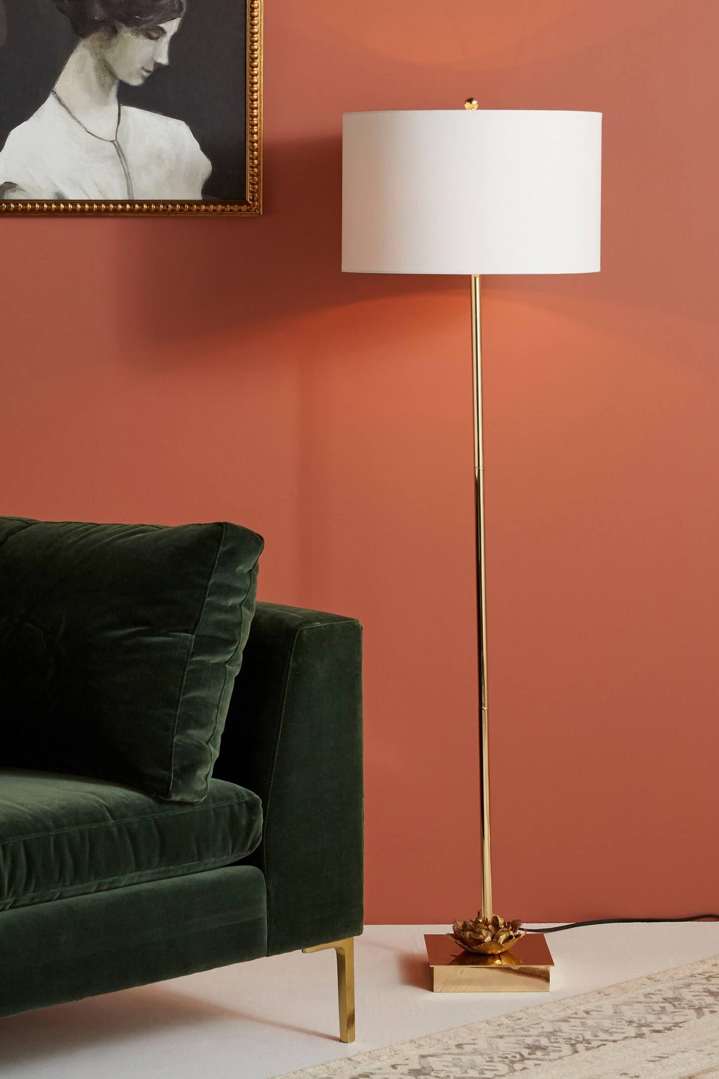 Adeline Floor Lamp by Anthropologie in Gold, Lighting
