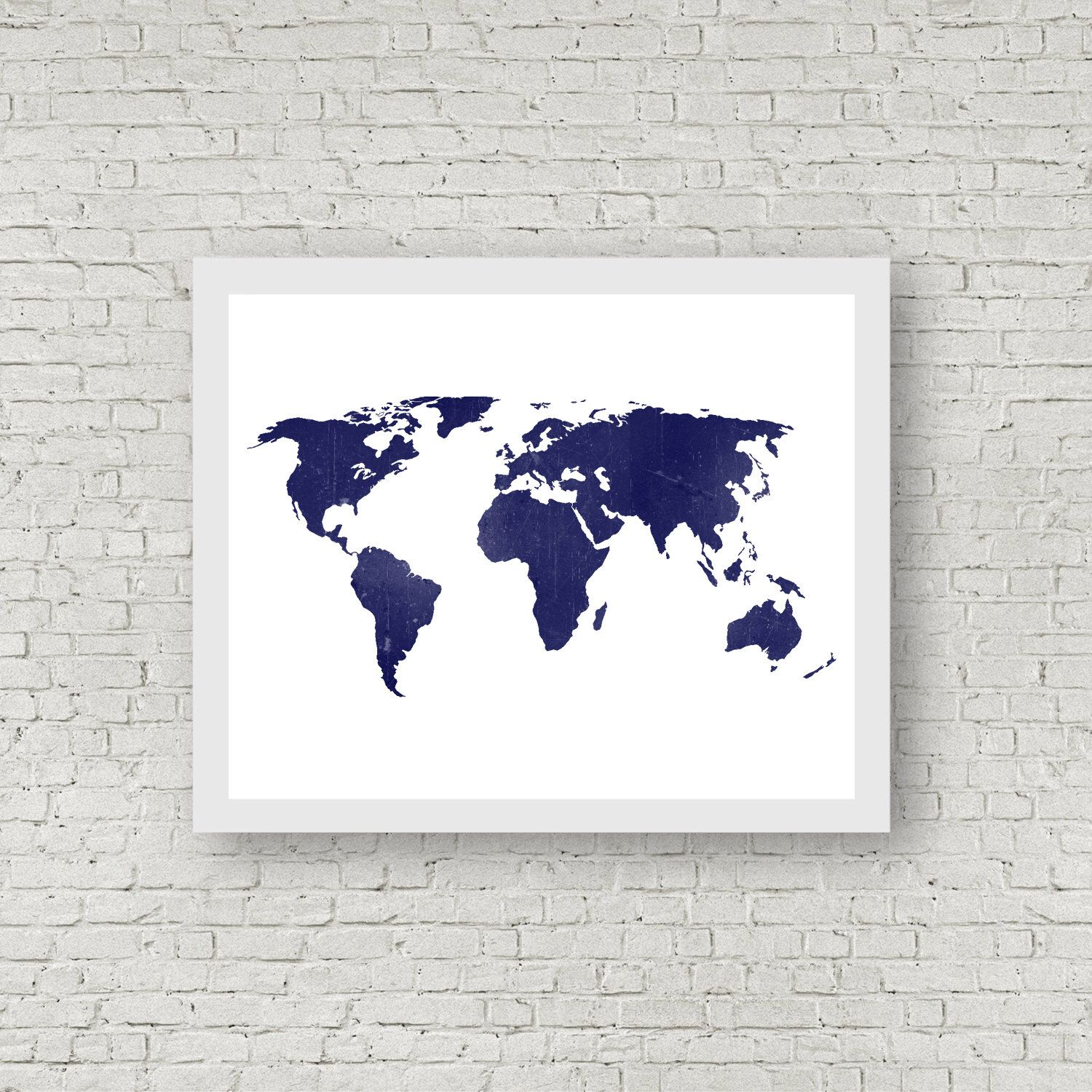 Indigo midnight blue world map a distressed rustic world map 85 indigo midnight blue world map a distressed rustic world map 85x11 gumiabroncs Images