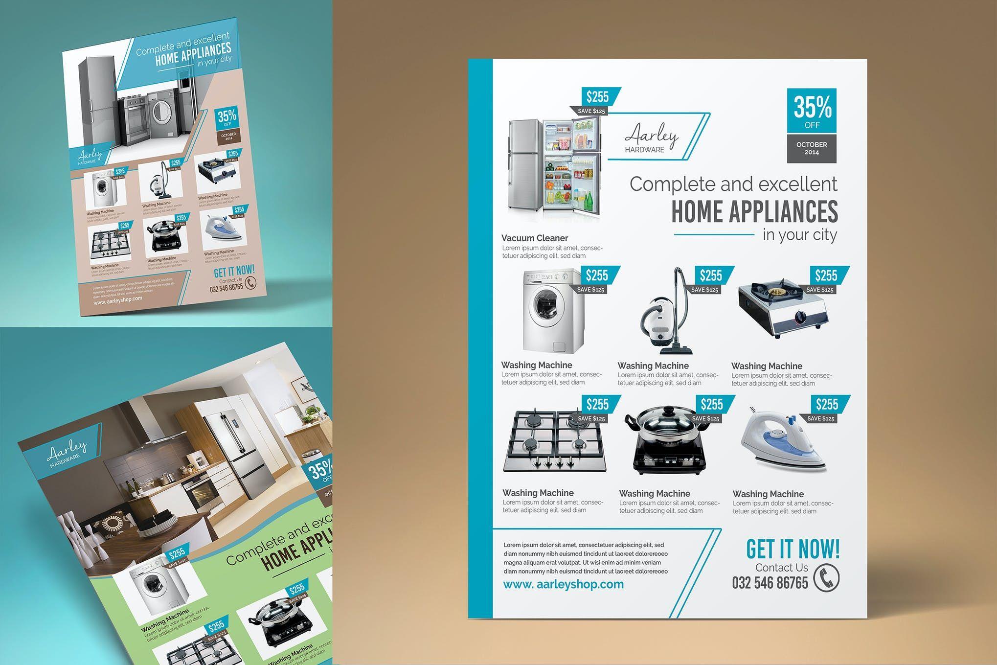 Home Appliances Flyer Template Flyer Template Home Appliances Flyer Design Templates