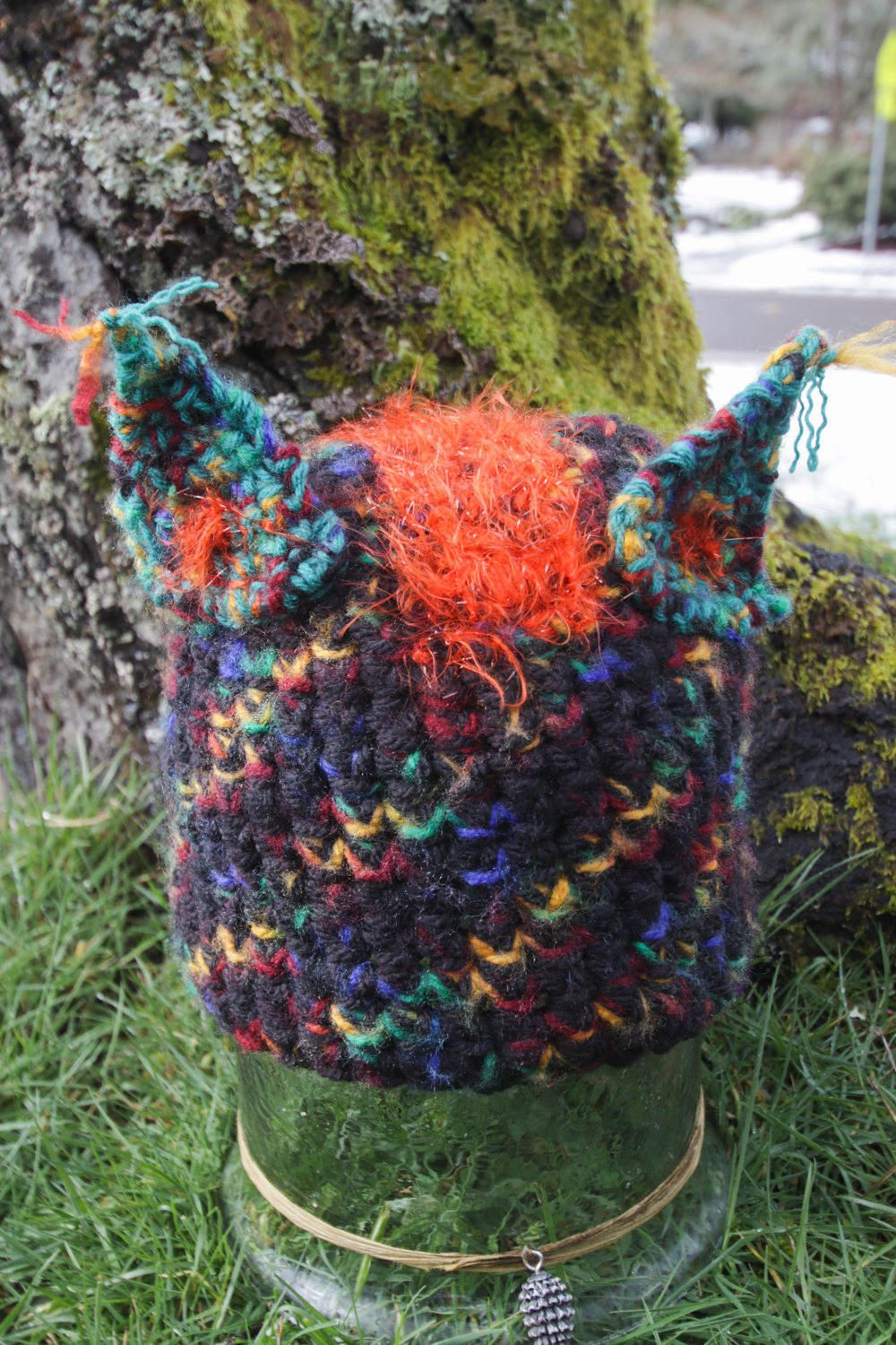 Mohawk cat hat wild thinghandmade hat fun gifts yarniology