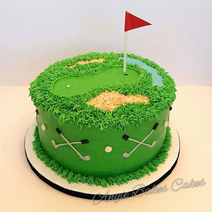 Golf Course Cake Design : Golf cake ? cakes Pinterest Golf, Cake and Birthdays