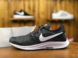 b39284a37f2b8 Mens Womens Nike Air Zoom Pegasus 35 Sneakers Black White 942851 001 ...