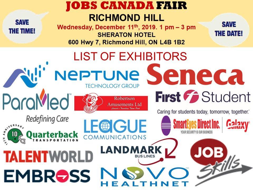 List Of Hiring Companies For Richmond Hilljobfair On December