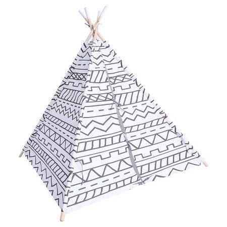 Play Tents And Tunnels  Pillowfort  Target  sc 1 st  Pinterest & Southwestern Teepee - Gray/White - Pillowfort™ : Target | Camping ...
