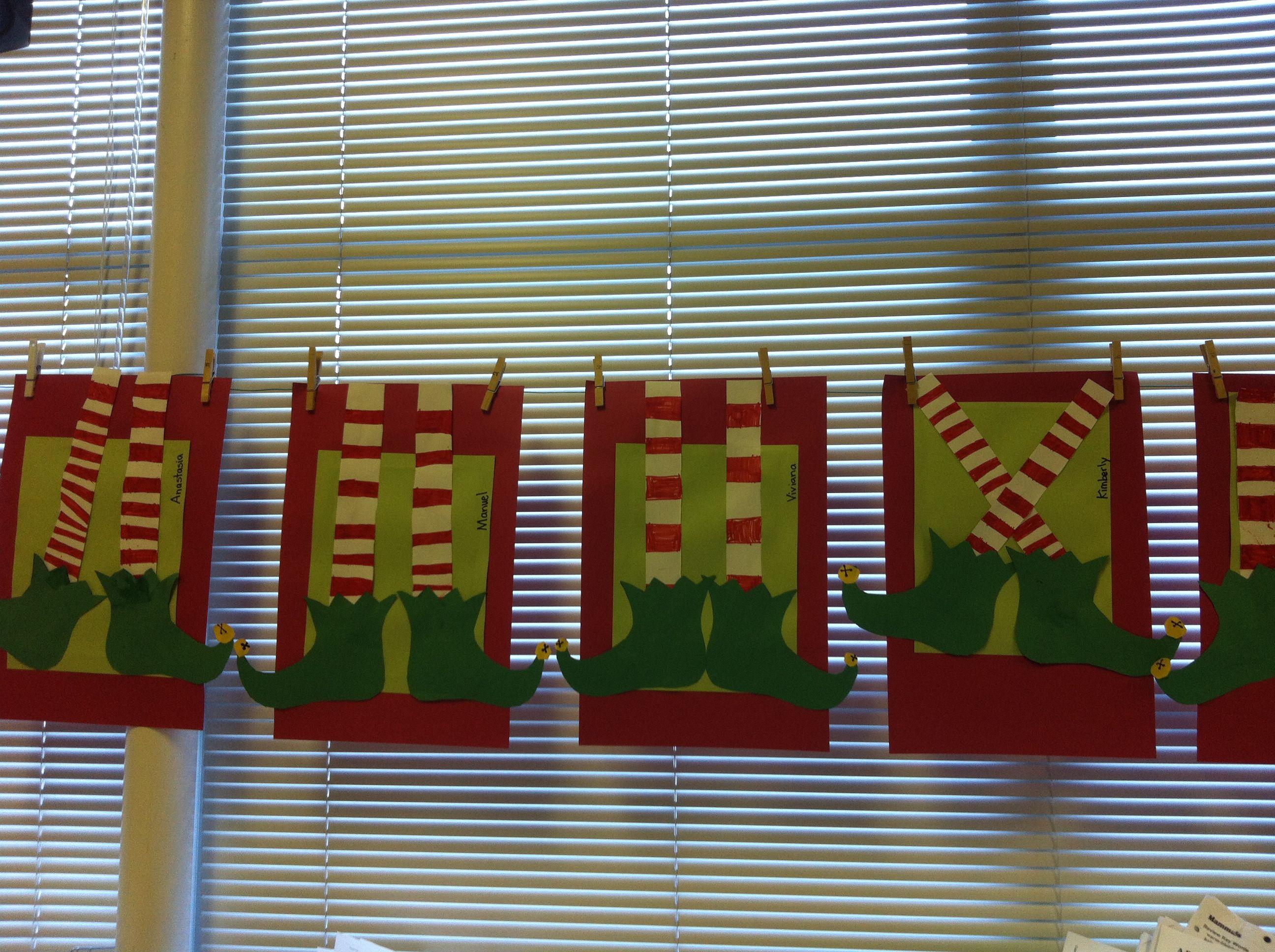 Cute elf feet from Christmas School Teaching Ideas