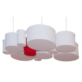 Lampe suspension design original en tissu CIRCLES THAWARU Home