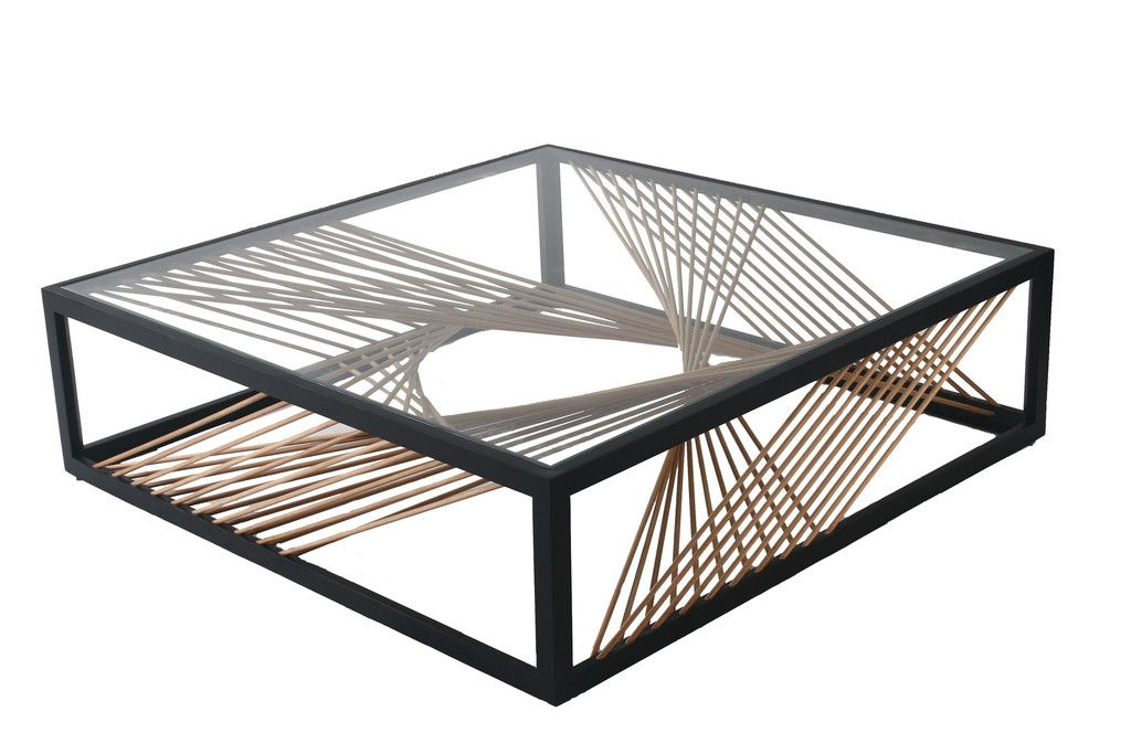 Vito Selma UN DEUX TROIS Coffee Table -- a perfect marriage of materials takes form in a defining structure. #livingroom #coffeetable #VitoSelma #juxtaposition