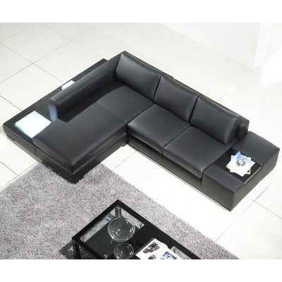 Tosh Furniture Tos Lf 2029 Comp Lt A3500 Lsf Black Sectionalleather Sectional Sofofa