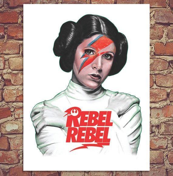 Princess Leia Bowie Star Wars Rebel iphone case