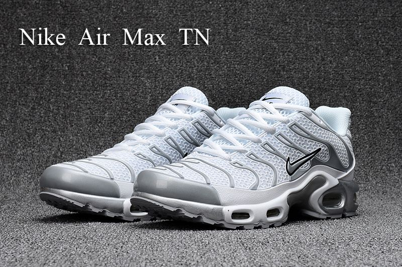 New Arrivel Nike Air Max Plus Tn Kpu Tuned White Silver Grey Black 604133 010 Men S Running Shoes Casual Sneakers Sneakers Men Fashion Nike Air Max Black Nike Shoes