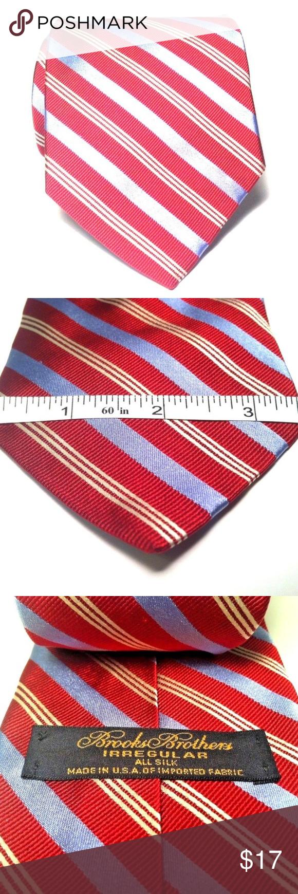 0ca6e10b1602 Brooks Brothers Makers Mens Tie Necktie Irregular Brooks Brothers Makers Men's  Tie 100% Silk Irregular Striped Necktie 60