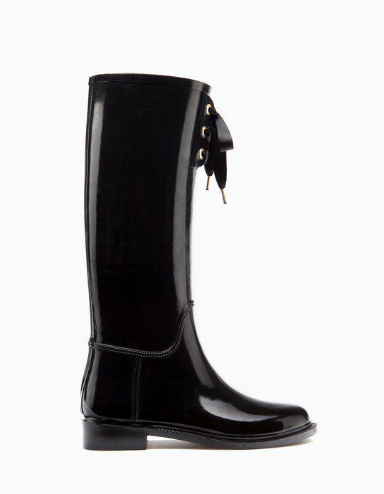 Stradivarius Bota agua ❤ | ♡ Shoes | Botas zapatos, Botas