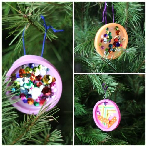 101 days of christmas simple lid ornaments christmas your way diy christmas craftspreschool christmaskids