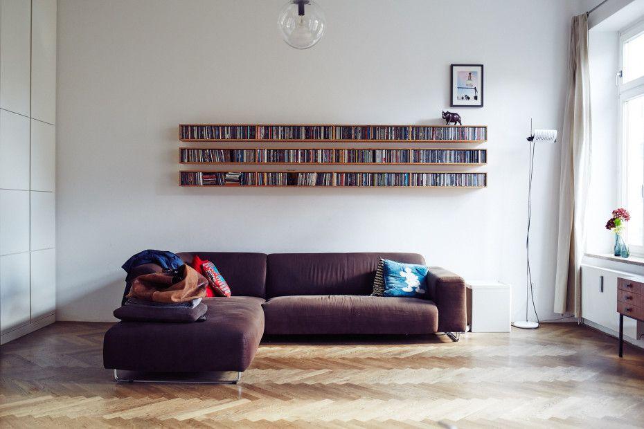 die besten 25 cd rack ideen auf pinterest schwebende. Black Bedroom Furniture Sets. Home Design Ideas