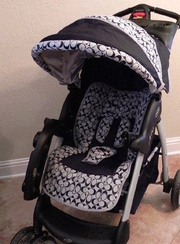 it 39 s fake but i will rock it coach stroller covers. Black Bedroom Furniture Sets. Home Design Ideas