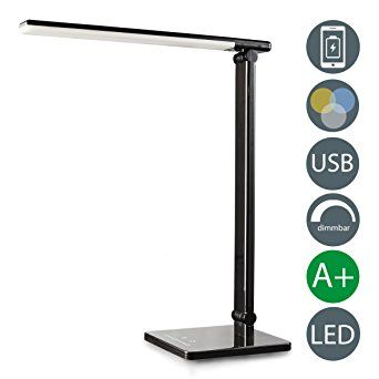 LED Schreibtischlampe Dimmbar USB Ladeanschluss Inkl LED Platine Badezimmerlampe  Ip20