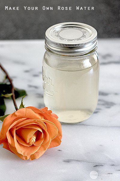 How to Make Your Own Rose Water For Beautiful, Healthy Skin - One Good Thing by Jillee