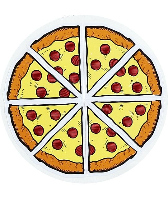 Pizza slice sticker