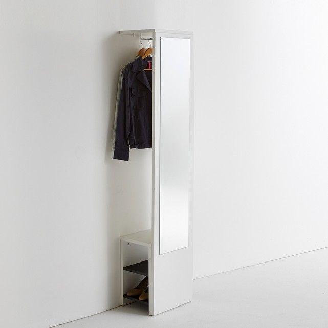 Appendiabiti a muro con specchio e panca, reynal bianco La Redoute ...