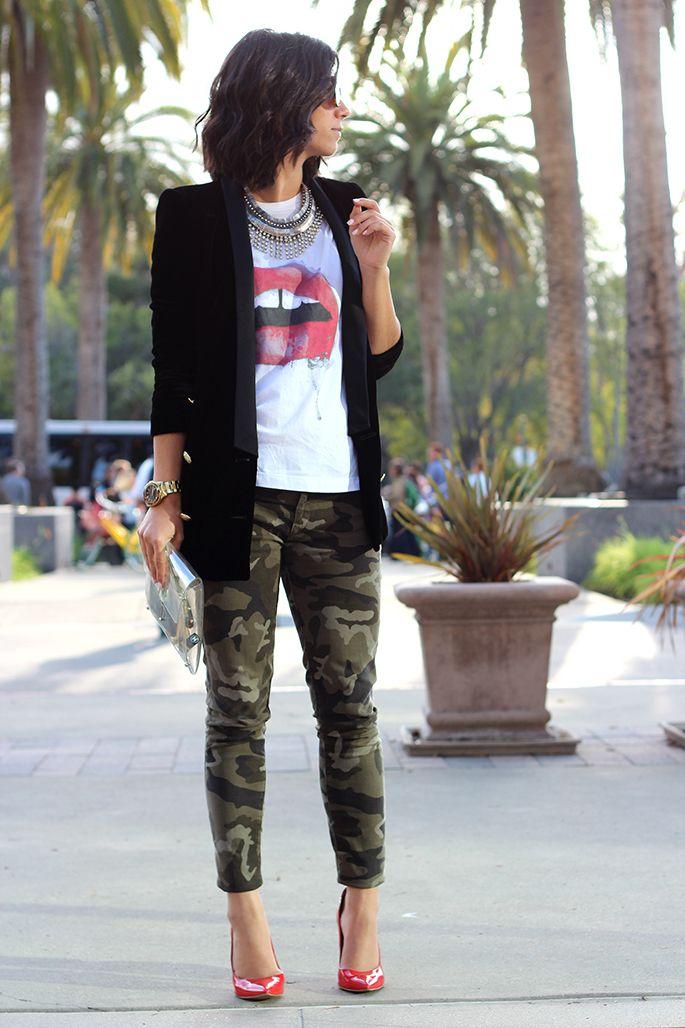 Stilettos on Treadmill: Camouflage pants: Inspirational