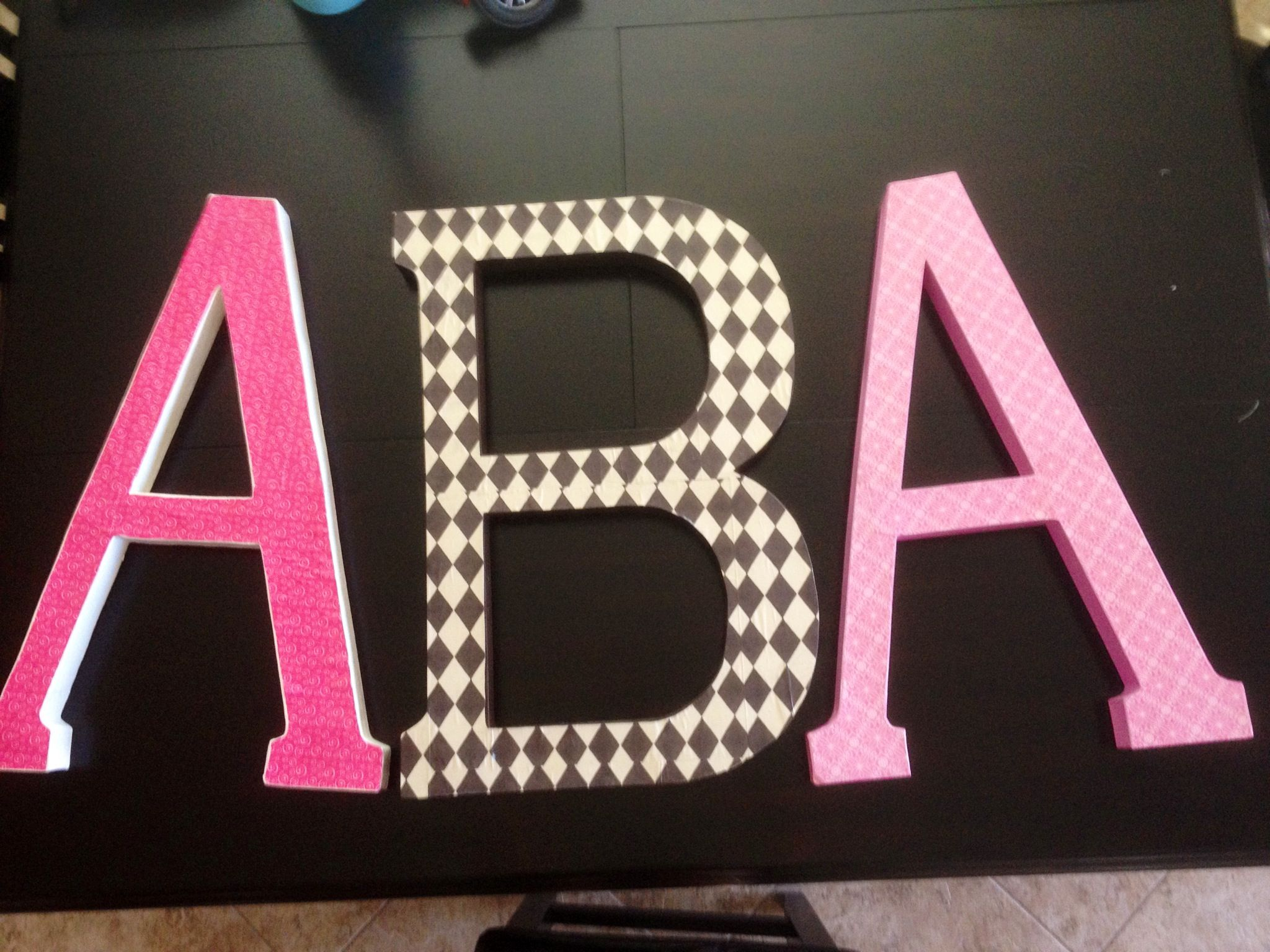 """24"""" cardboard letters card stock mod podge = another Pinterest"""