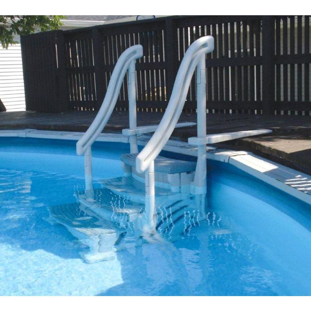 4 Step Entry Steps For Above Ground Swimming Pool With 3 Sand Weights Above Ground Pool Steps Above Ground Pool Ladders Pool Steps