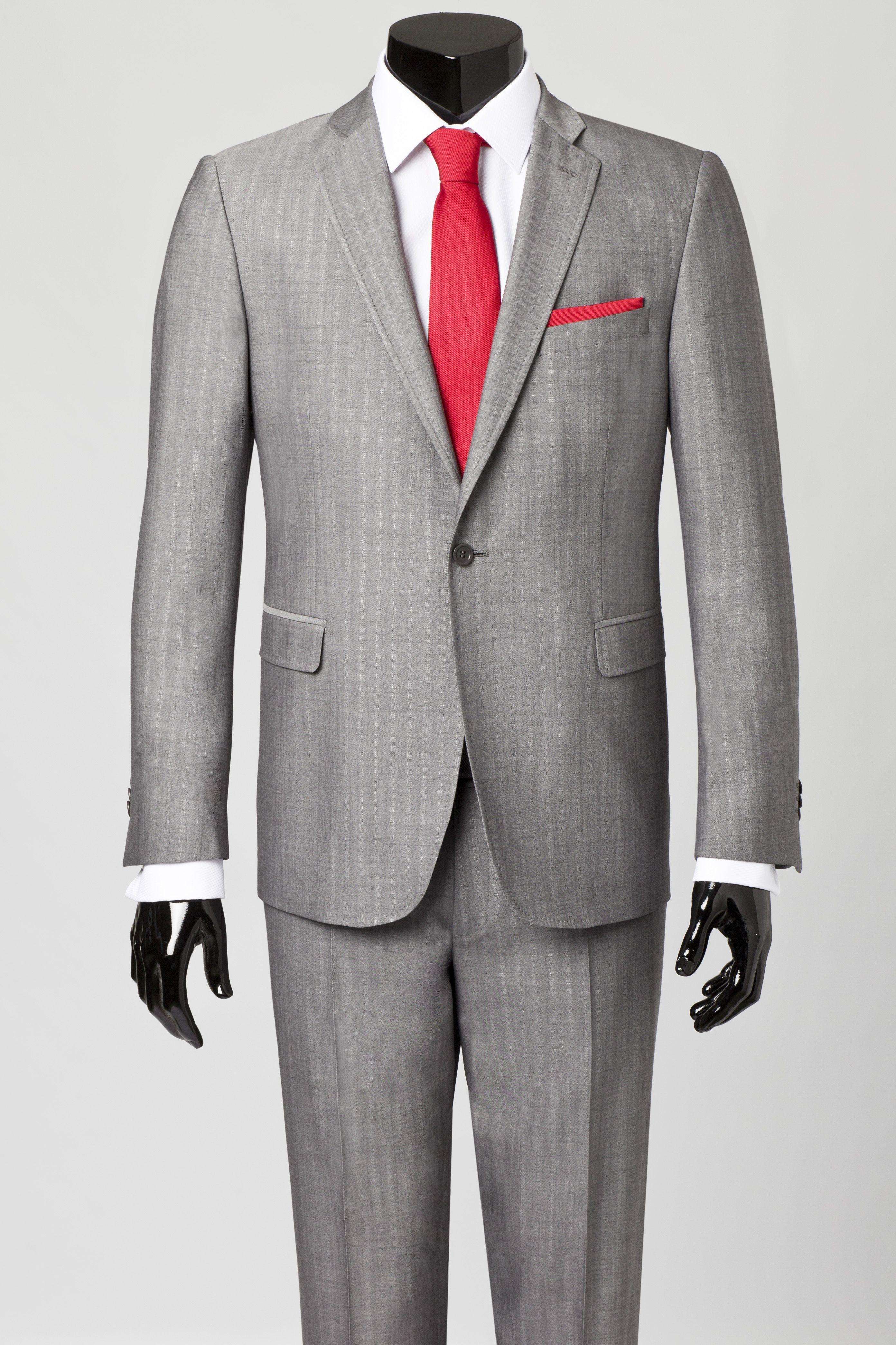 suit fundamental preso light pin gray grey wardrobe pinterest the