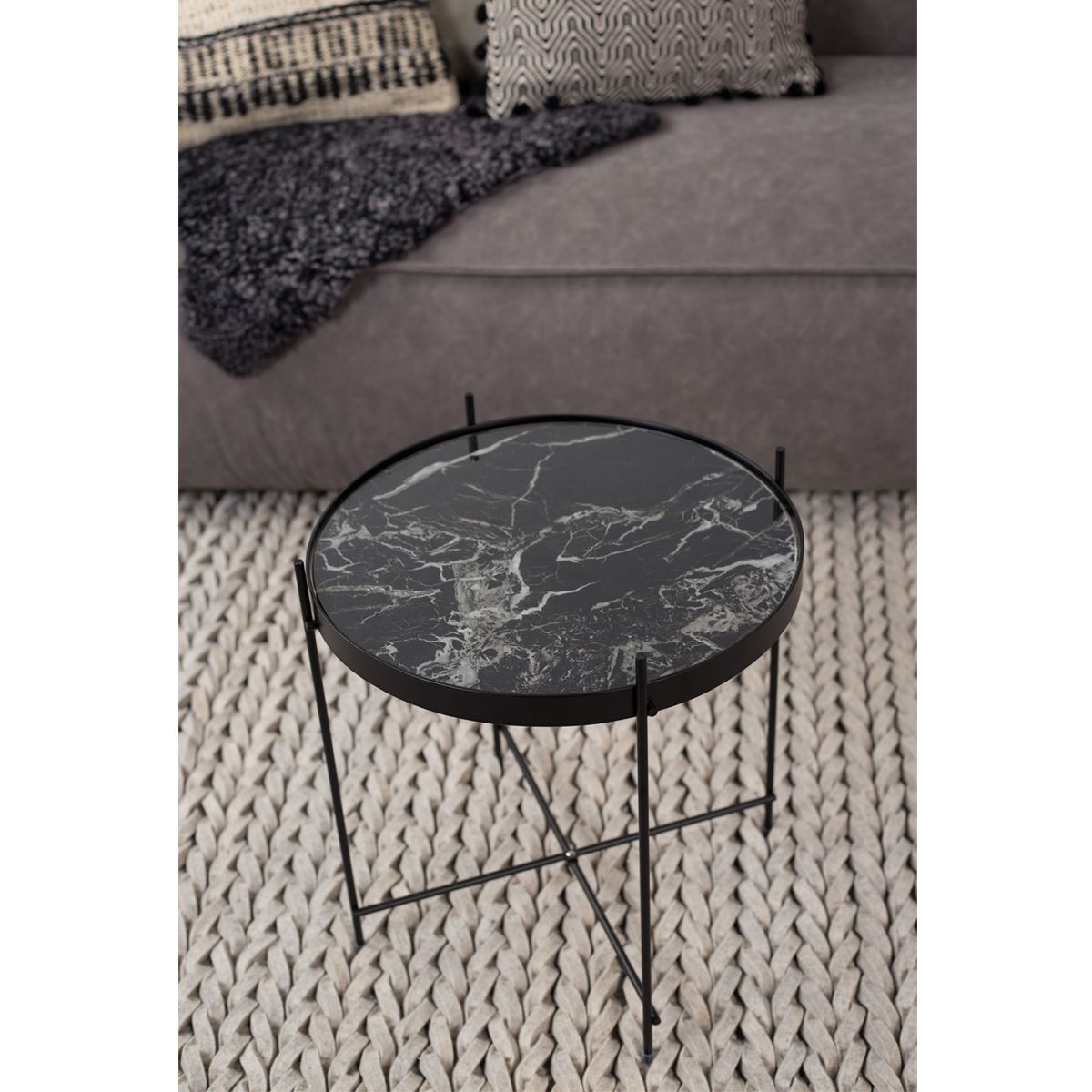 Table basse design ronde Cupid S Marble Zuiver