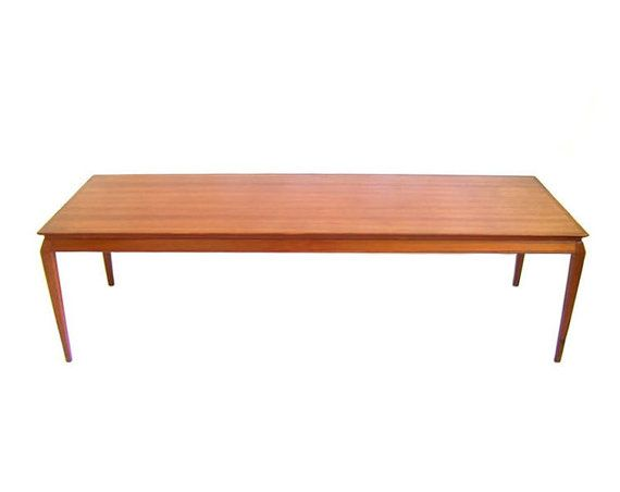 RESERVED Vintage Danish Modern Coffee Table Solid Teak Table Made in