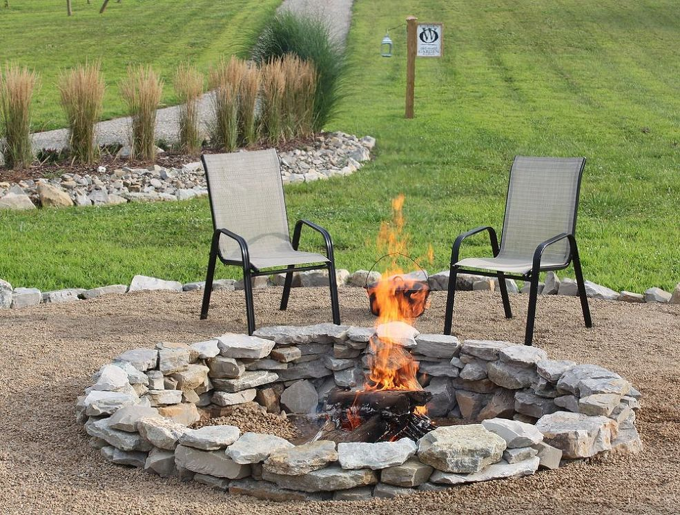 These Hometalkers Built Their Dream Stone Fire Pit Right Here For