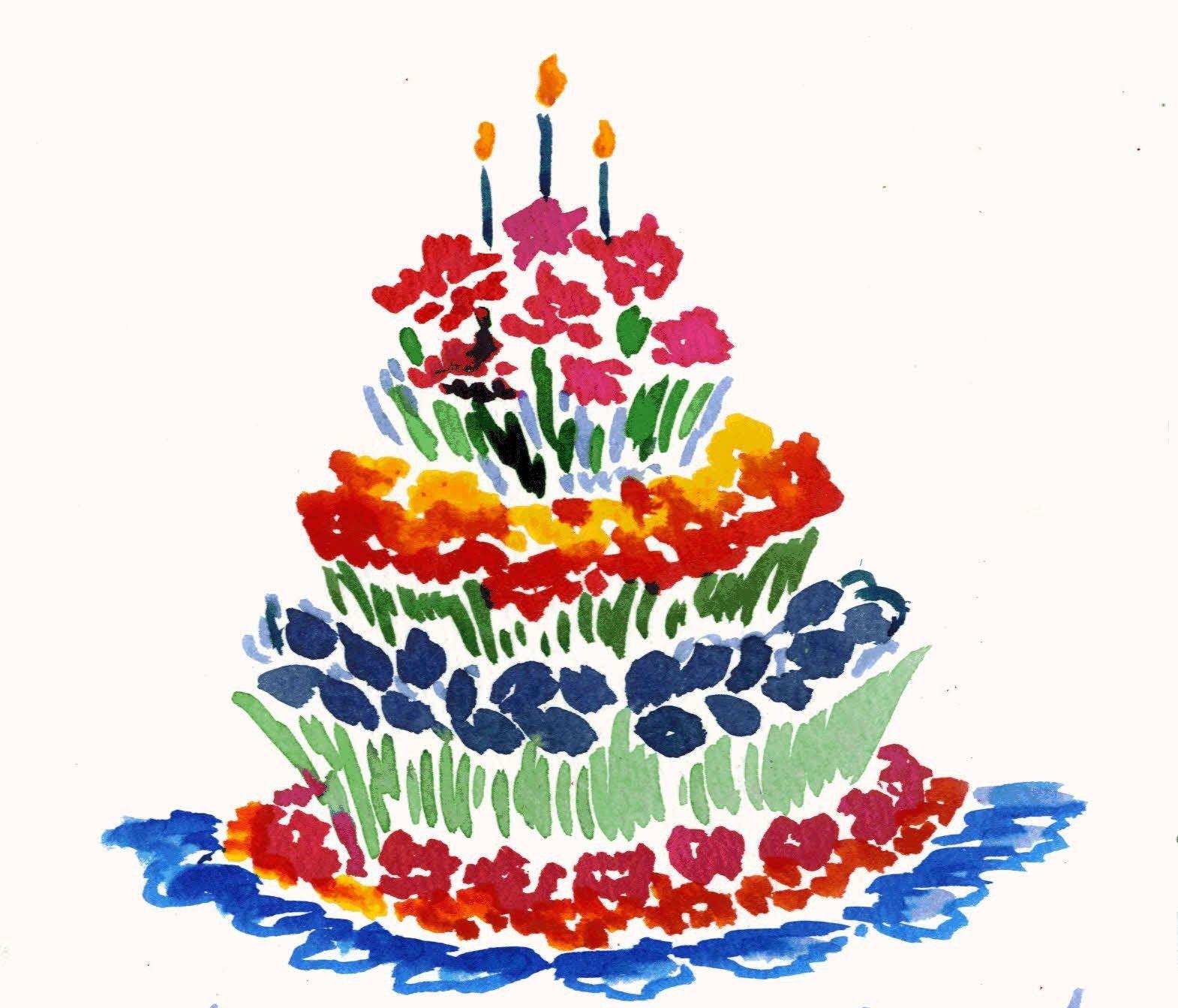 Matisse happy birthday artistic cake