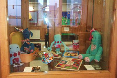 Islesburgh community centre exhibition windows ♥ Peerie Critters ♥