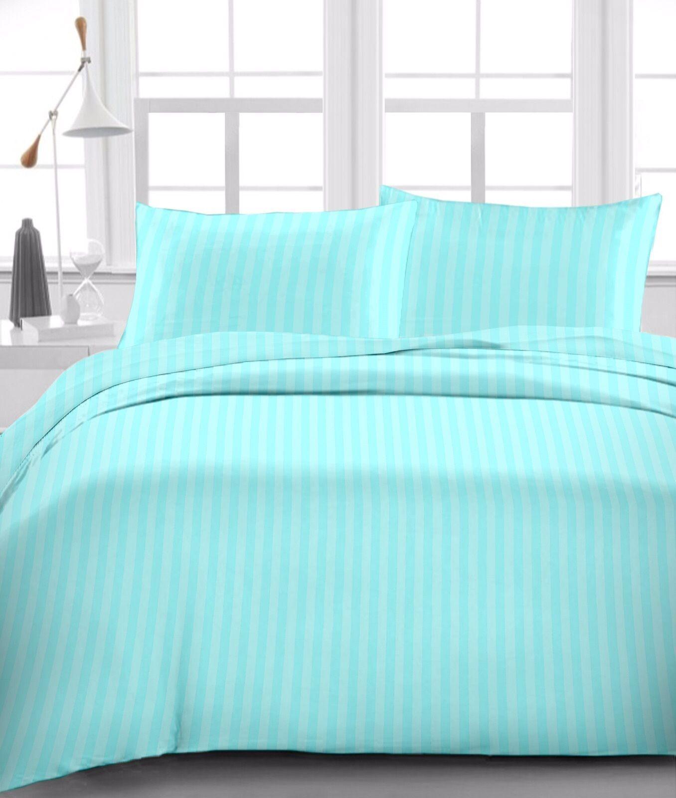 4pcs water bed sheet set egyptian cotton 1000 tc drop 8 30 inch aqua
