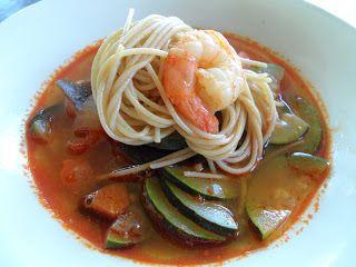 짬뽕 - Jjamppong.  Korean Spicy Seafood Noodle Soup