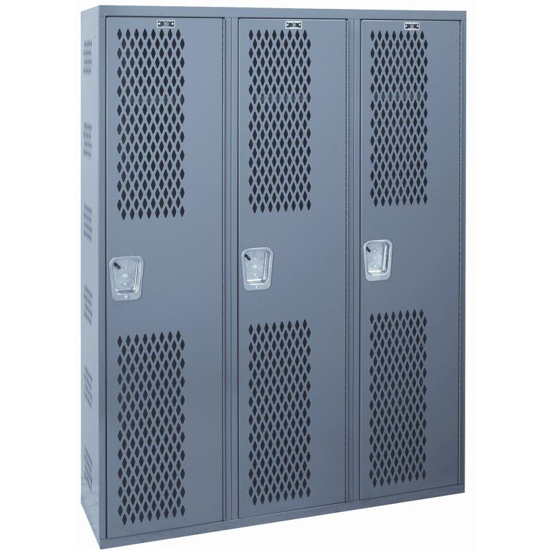 Welded 1 Tier 3 Wide Gym Locker Lockers Home Lockers Locker Storage