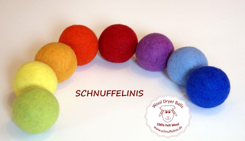 wool dryer balls - Filzkugeln XXL -  6cm, Waldorf Spielzeug, Eco freundliche, natürliche Filzbälle, Waldorf Filzbälle, 100% Filzwolle,Trockner Bälle by Schnuffelinis on Etsy