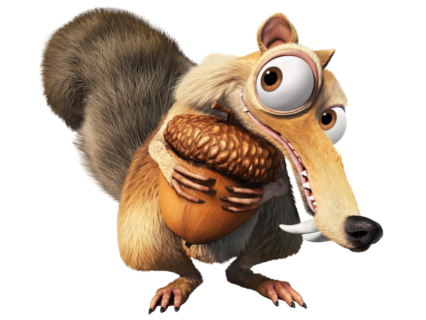 Ice Age Squirrel Scrat PNG Transparent Image