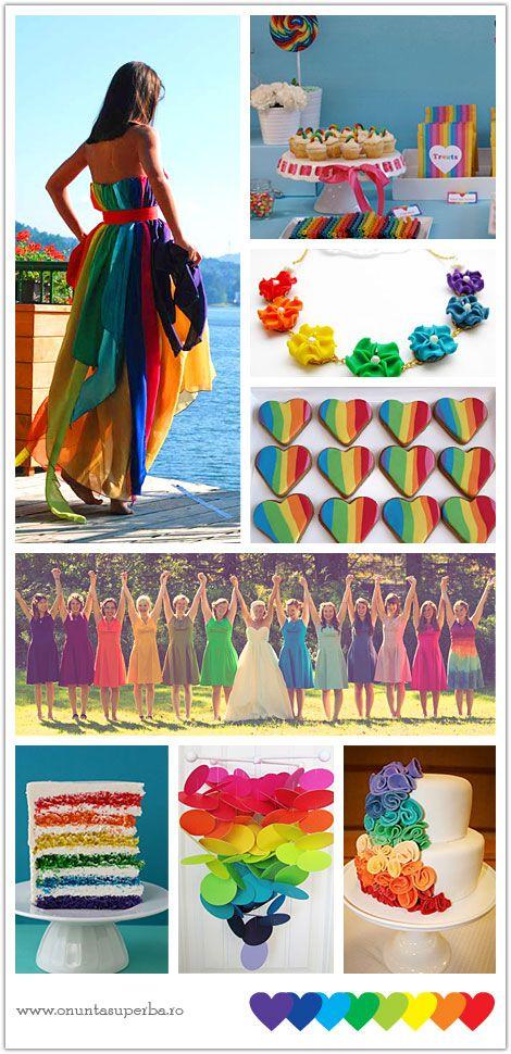 Pin By Amandine Gryson On Dicenos De Encajes Rainbow Wedding Theme Rainbow Wedding Rainbow Colors