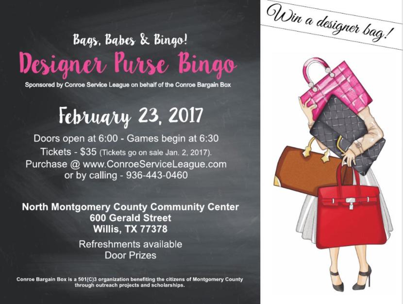 Fundraiser Purse Bingo Fundraising Bingo Purses