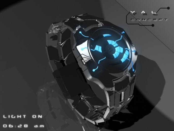 Cool watch design inspired by Tron. I so want drool worthy