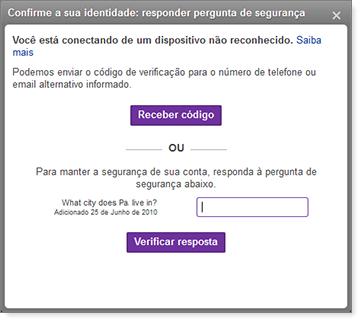 Confirme a sua caixa de verificação de identidade
