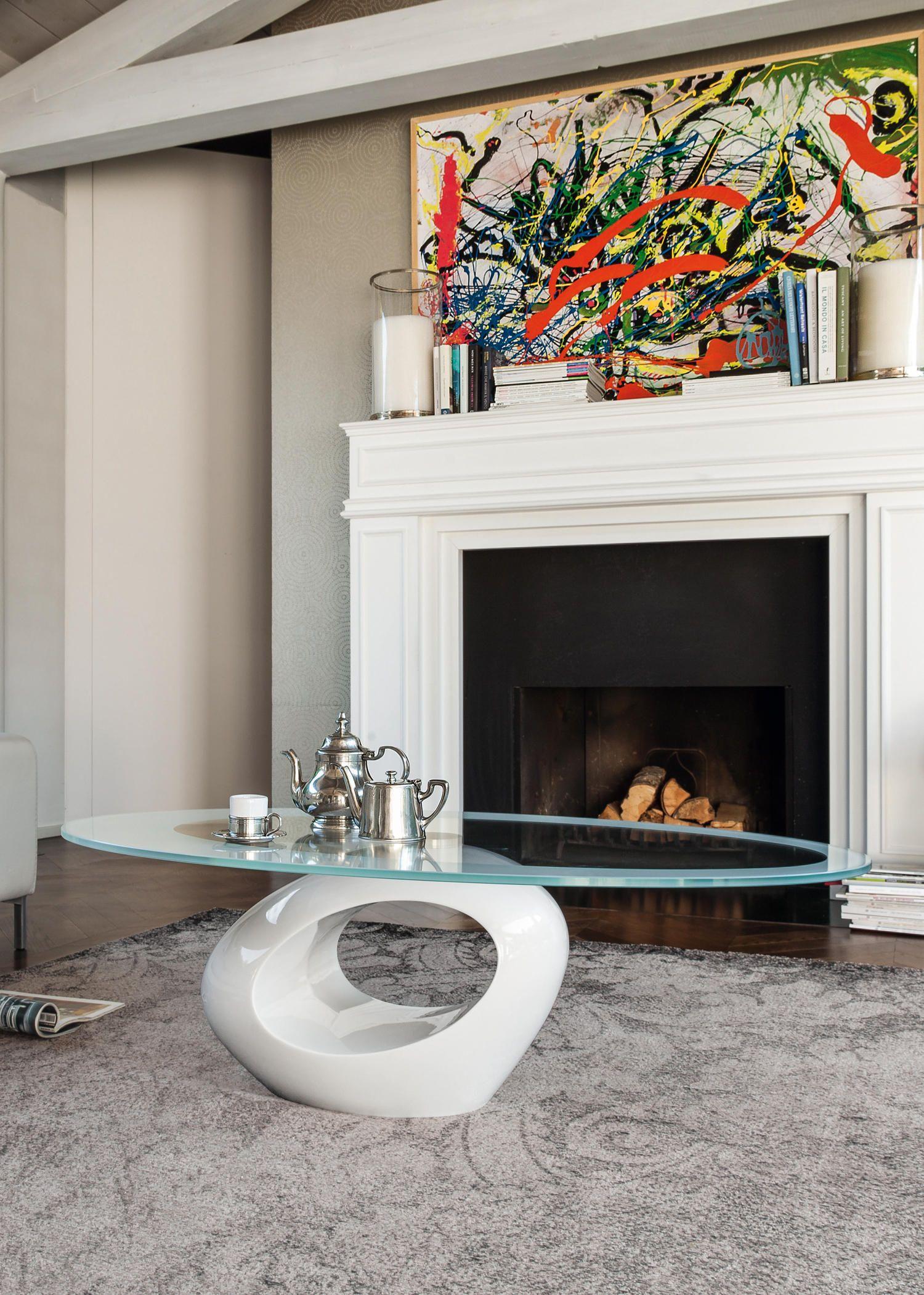 Coffee Table With Base In Lacquered Glossy Black Marble Agglomerate And Top In Tempered Glass With Black Serigraphy L Tavolo Da Soggiorno Marmo Nero Caminetto [ 2100 x 1500 Pixel ]