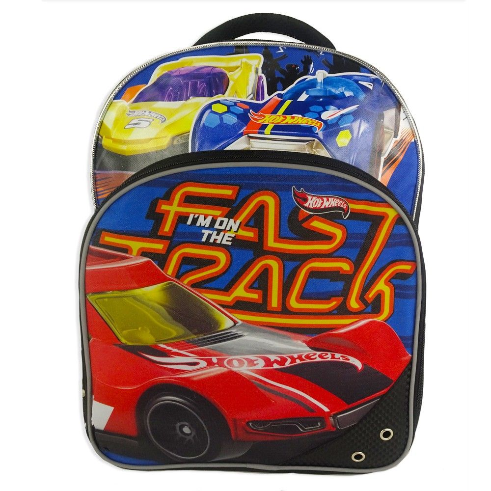 Hot Wheels 16 Kids  Backpack with Car - Red Blue 0aea47d7015c2