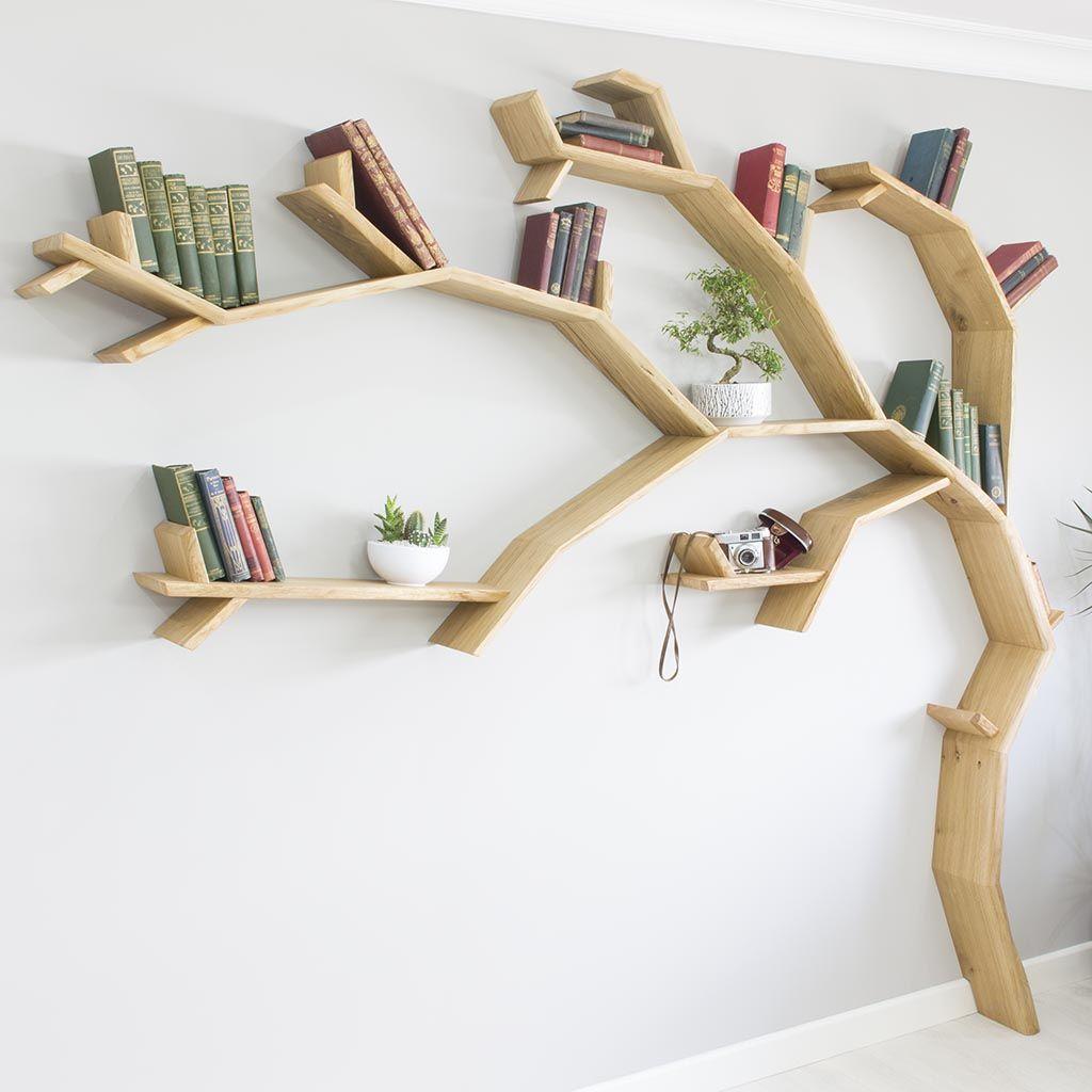 The Windswept Oak Tree Shelf In 2020 Tree Bookshelf Tree Shelf