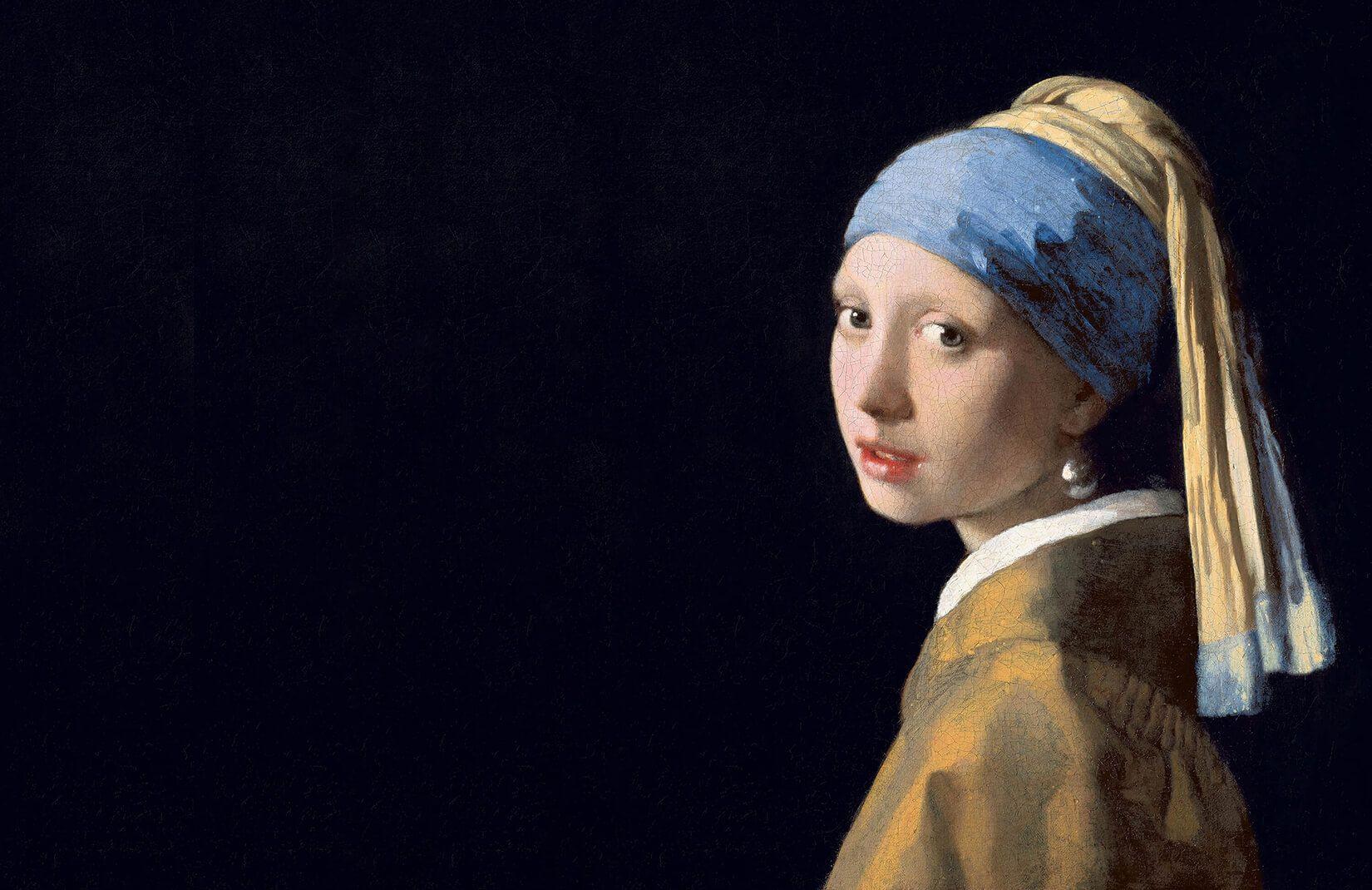 Papier Peint Jeune Fille A La Perle De Vermeer Murals Wallpaper Fr Johannes Vermeer Vermeer Most Famous Paintings