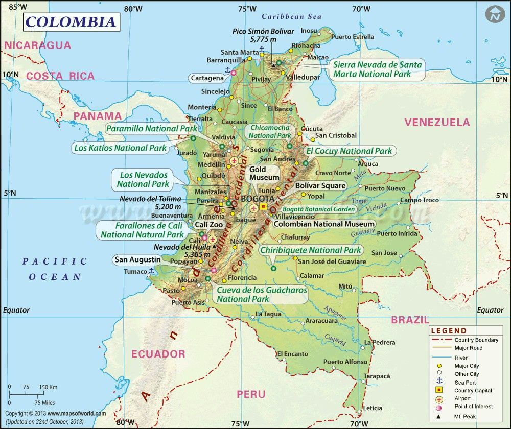 Colombia Worldmap World