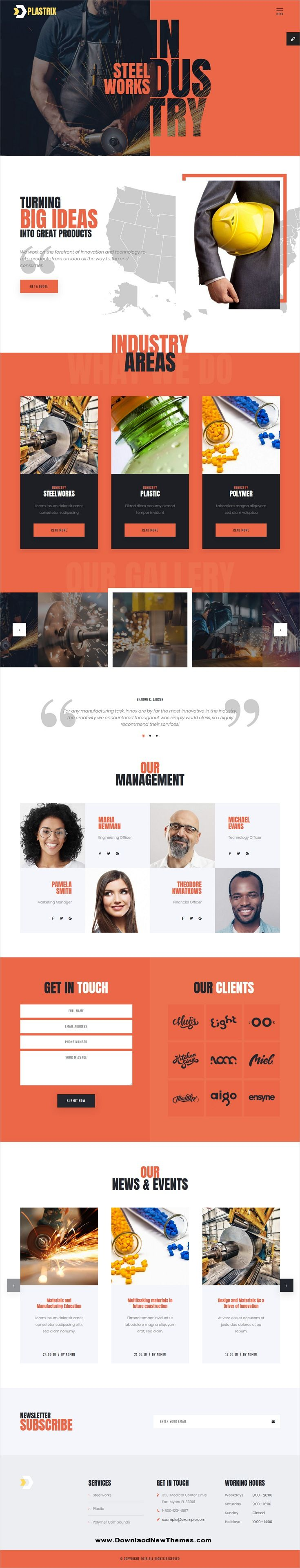 Plastrix Is A Clean And Modern Design 3in1 Responsive Bootstrap Html5 Template For Industry Factory Engi Amazing Website Designs Web Design Website Design
