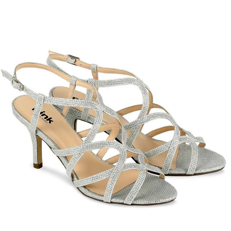 3df51bee87 Pink Paradox Rich Silver Glitter Wedding Sandals | sabates | Silver ...